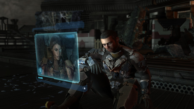 Isaac and Ellie in Dead Space 2
