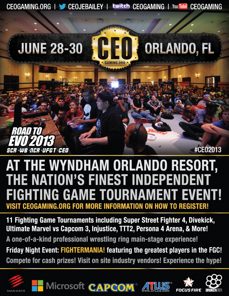 CEO Fighting Game Tournament 2013 - Orlando, FL @ Wyndham Orlando Resort | Orlando | Florida | United States